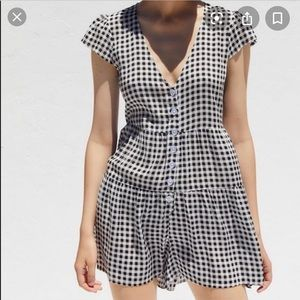 NWT Urban Outfitters Swingy gingham frock Rompers